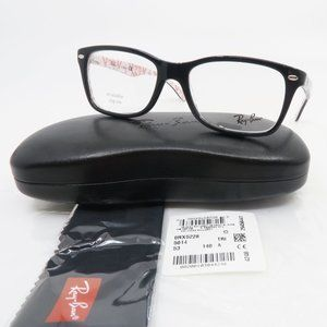 Ray-Ban RB 5228 5014 Shiny Black and Red Logo